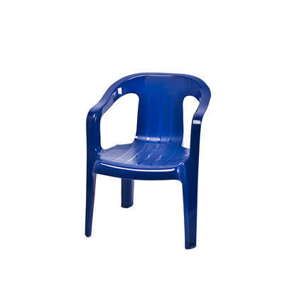 Children S Chair Plastic Stacking Navy Blue W Arms